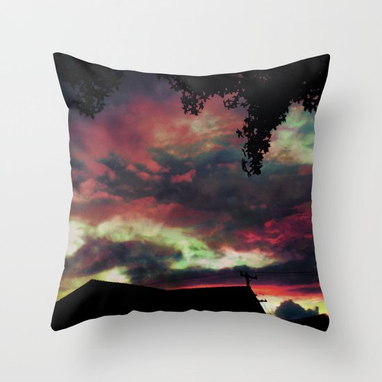 Thick as the Day's End Throw Pillow