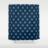 Storm and radiation Shower Curtain