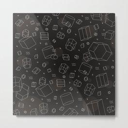 Third Dimensional Pattern: Dark Metal Print