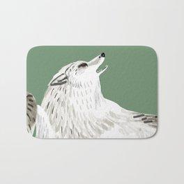 Totem Alaska tundra wolf Bath Mat