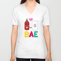 sriracha V-neck T-shirts featuring BAE by Ronnieboyjr