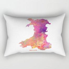 Wales map #wales #map Rectangular Pillow