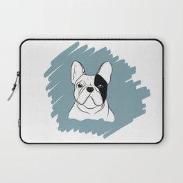 Black and White Frenchie Laptop Sleeve