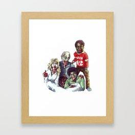Zom'bies Strokes Framed Art Print