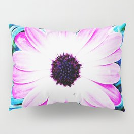 Making art with flower - blue tones Pillow Sham