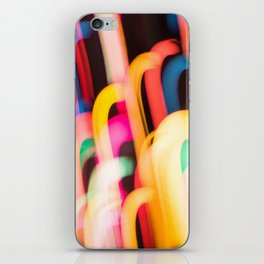Neon Worms iPhone Skin