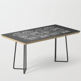 Back to school typography drawing on blackboard with motivational messages, hand lettering Coffee Table