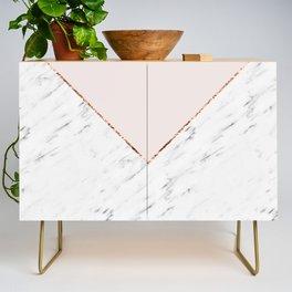 Peony blush geometric marble Credenza