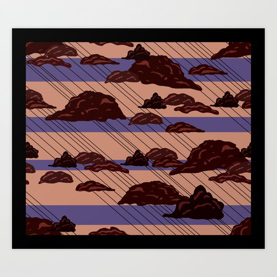 Rain Clouds Art Print