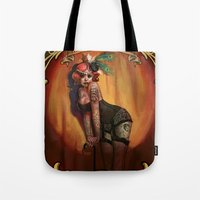 lydia martin Tote Bags featuring Lydia by Rudy Faber