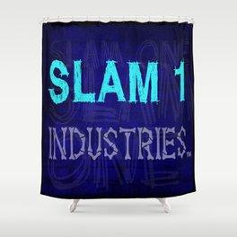 Slam 1 Industries Blue Bones Shower Curtain