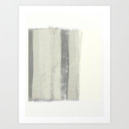 Black and Cream Minimalist Abstract Art Print Art Print