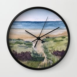 Path to the Beach Wall Clock