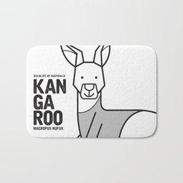 Kangaroo, Wildlife of Australia Bath Mat