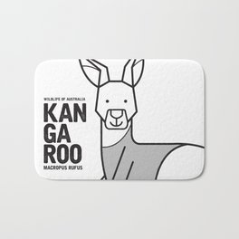 Kangaroo, Wildlife of Australia Bath Mat