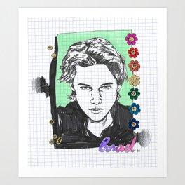 RIP BRAD Art Print