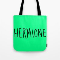 hermione Tote Bags featuring Hermione by Annie Claire