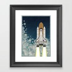 Space Shuttle Framed Art Print