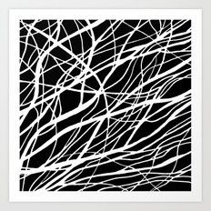 Tumble 2 Black Art Print