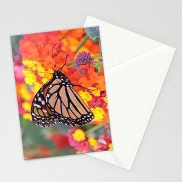Monarch Feeding on Lantana Stationery Cards