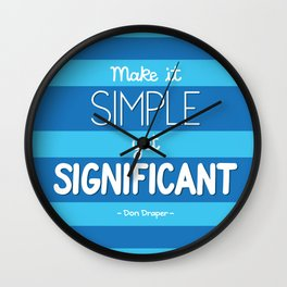 Simple Yet Significant Wall Clock