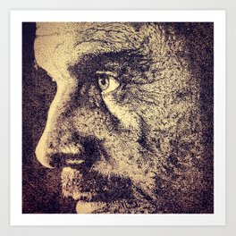 A Stippled Portrait Art Print