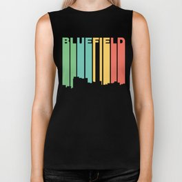 Retro 1970's Style Bluefield West Virginia Skyline Biker Tank