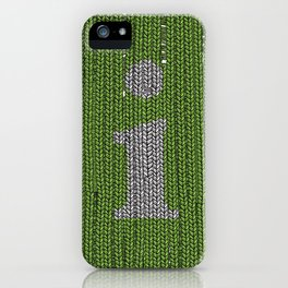 Winter clothes II. Letter i. iPhone Case