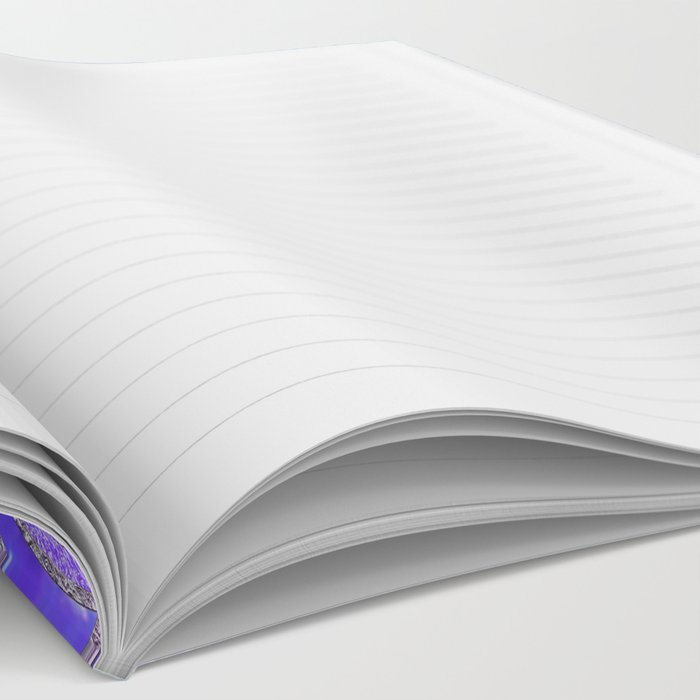 Aqua Blue Purple and Pink Sparkling Glitter Circles Notebook