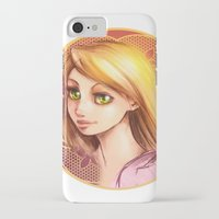 rapunzel iPhone & iPod Cases featuring Rapunzel by Vincent Vernacatola