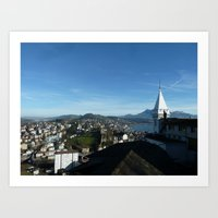 switzerland Art Prints featuring Switzerland by amollt