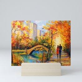 Romantic encounter in new York Mini Art Print