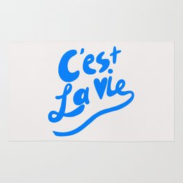 C'est La Vie art print, typography art print, quote art print Rug