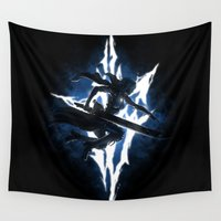 returns Wall Tapestries featuring Lightning Returns by Six Eyed Monster