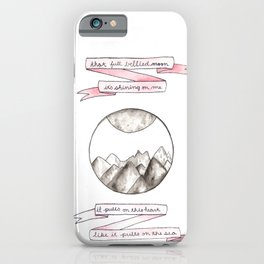 The Moon Song iPhone Case