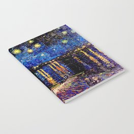 Over the rhone(starry night) Notebook