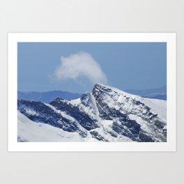 """""""Veleta mountain"""". Aerial photography Art Print"""