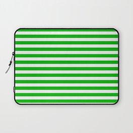 Basic Green Stripes horizontal Laptop Sleeve