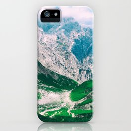 View of the majestic Madeira mountains iPhone Case