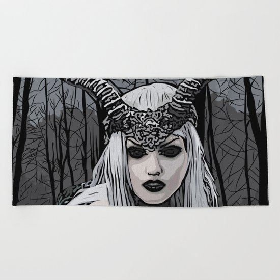 Wild witch Beach Towel