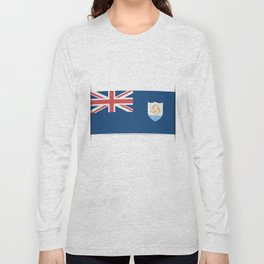 Flag of Anguilla. The slit in the paper with shadows. Long Sleeve T-shirt