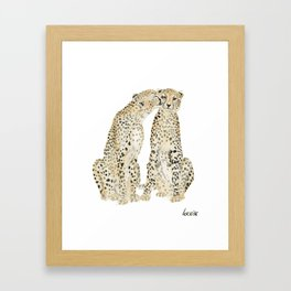 cheetah lovers Framed Art Print