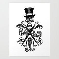 SEÑOR CALAVERA Art Print