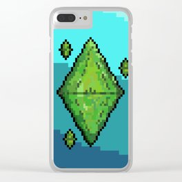 Sims Plumbob Clear iPhone Case
