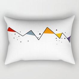 Geometric Mountains Rectangular Pillow