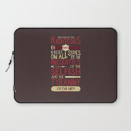 Ezekiel 25:17 Laptop Sleeve