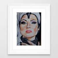 regina mills Framed Art Prints featuring Regina Mills/Evil Queen by Bernadette Woods