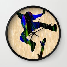 Skateboarder Wall Clock