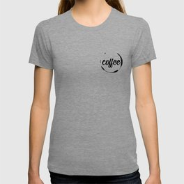coffee stained T-shirt