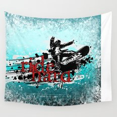 ride hard - snow Wall Tapestry